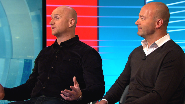 John Hartson and Alan Shearer