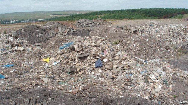 The illegal landfill site