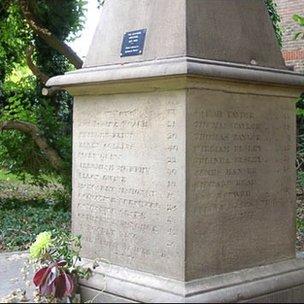Memorial at Hadlow church