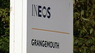 Ineos Grangemouth sign