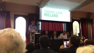 Gerry Adams addresses conference