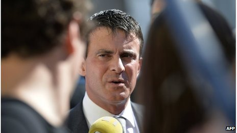 French Interior Minister Manuel Valls (18 Oct 2013)