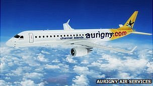 Mock up of Aurigny jet