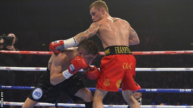 Carl Frampton stopped Jermy Parodi in the sixth round