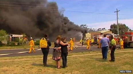 House burns in Lithgow. 17 Oct 2013