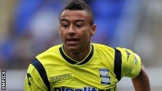 Birmingham midfielder Jesse Lingard
