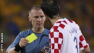 Graham Poll showed three yellow cards and an eventual red to Croatia's Josip Simunic at the 2006 World Cup