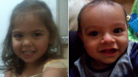Na'ilah Khan, two, and her 10-month-old brother, Sulaimon Khan
