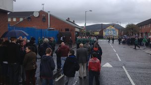 Memorial service for Thomas Begley in north Belfast