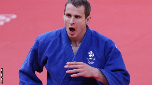 Euan Burton reacts after losing his contest at London 2012