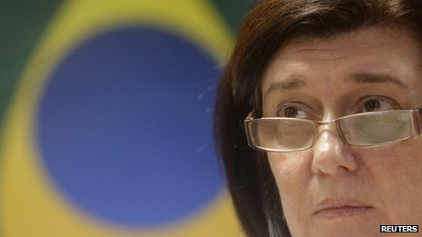 Magda Chambriard, director of the ANP oil agency, attends a news conference in Rio de Janeiro on 23 May, 2013