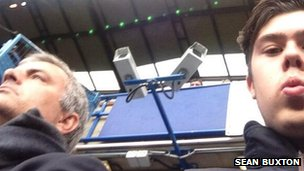 Sean Buxton sat next to Jose Mourinho