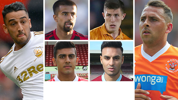Clockwise from left: Neil Taylor, Adil Nabi, Danny Batth, Michael Chopra, Kashif Siddiqi and Malvind Benning