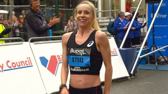 Gemma Steel wins the Great Birmingham Run