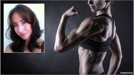 Dr Tanya Bunsell and a female body builder