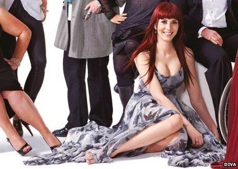 Paris Lees on the cover of Diva magazine