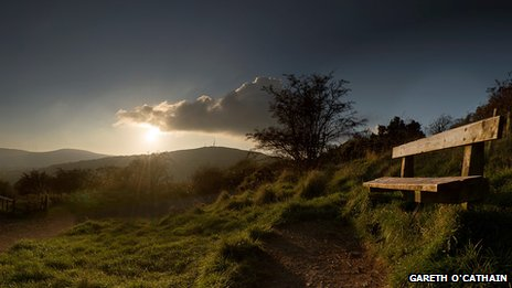 The sun sets over the Cavehill - by Gareth O'Cathain