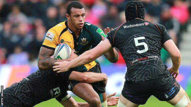 Northampton second row Courtney Lawes