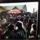 Guest mill around at a Nigerian wedding