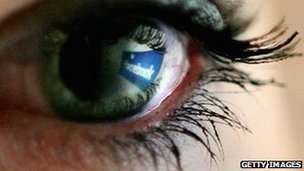 Facebook in eye