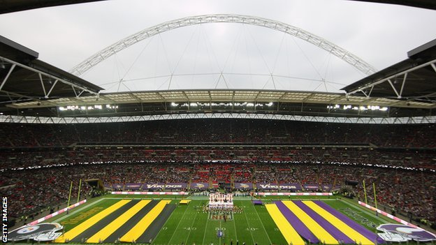Pittsburgh Steelers and Minnesota Vikings at Wembley Stadium