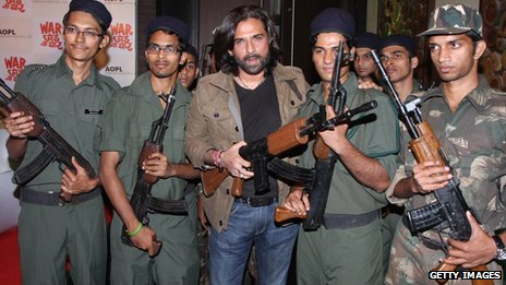 Bollywood actor Mukul Dev with others at a press conference for War Chod Na Yaar