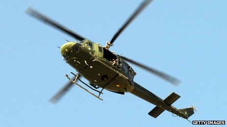 A Pakistani army helicopter