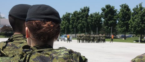 A female Canadian soldier