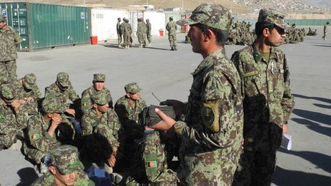 Afghan recruits (pic: David Loyn)