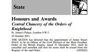London Gazette notice