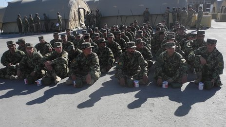 Afghan officer recruits (pic: David Loyn)