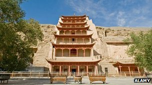 Cave temple at Dunhuang