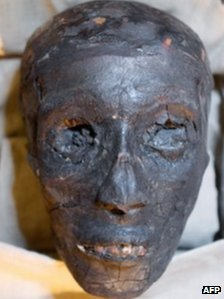 The face of Tutankhamun's mummy