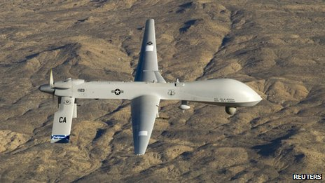 A US Air Force MQ-1 Predator unmanned aircraft (file photo)