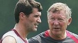 Roy Keane (left) and Sir Alex Ferguson