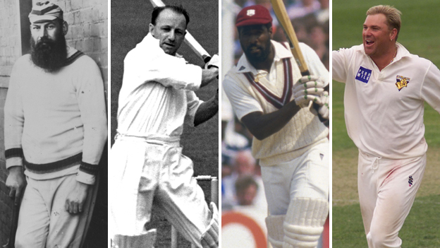 WG Grace, Don Bradman, Viv Richards and Shane Warne