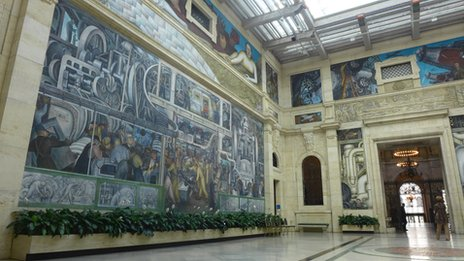 Diego Rivera's murals at the Detroit Institute of Arts