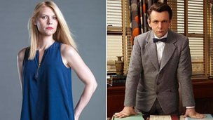 Claire Danes in Homeland and Michael Sheen in Masters of Sex