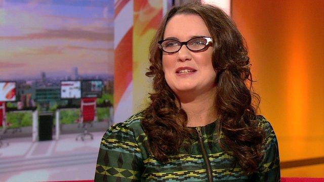 Andrea Begley on BBC Breakfast