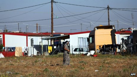 Roma settlement at Farsala Greece (22 Oct 2013)