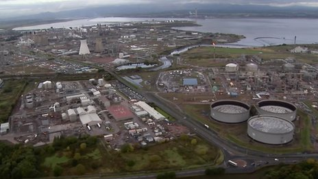 aerial view of grangemouth
