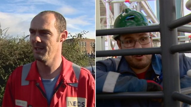 Workers at Grangemouth