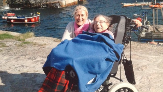 Christine Stewart with her mother Sylvia