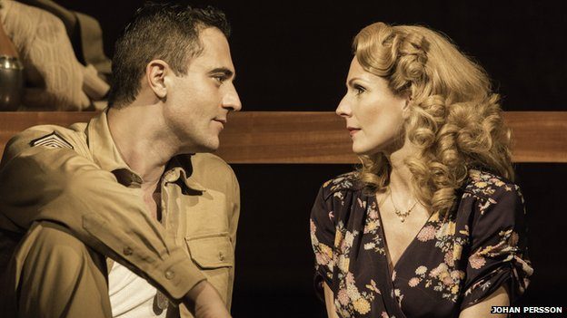Darius Campbell (Warden) and Rebecca Thornhill (Karen) in From Here to Eternity