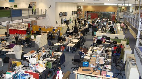 Inside the newsroom at BBC Birmingham