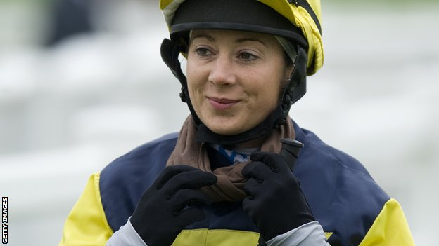 Hayley Turner in action