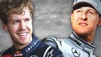 Sebastian Vettel and Michael Schumacher's Formula 1 records are compared