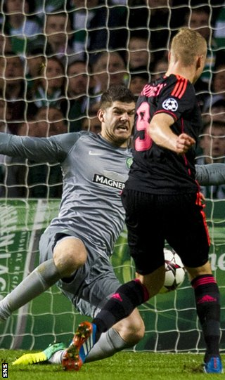 Fraser Forster saves from Kolbeinn Sigthorsson