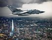 Tornado GR4 flying over The Shard in London