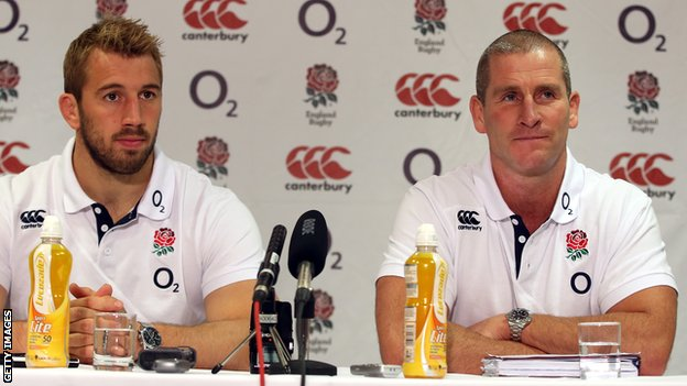 England captain Chris Robshaw with head coach Stuart Lancaster